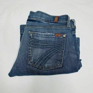 7 For All Mankind Jeans Womens Size 28 Blue Crop